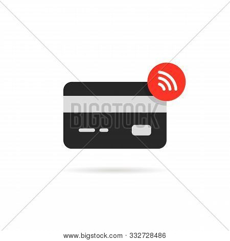 Contactless Payment Icon Isolated On White. Cartoon Modern Iot Logotype Graphic Art Design. Concept