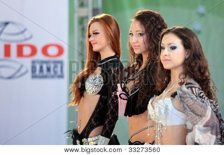 MOSCOW, RUSSIA - MAY 2: Medal ceremony during IX World Dance Olympiad in Moscow, Russia at May 2, 2012