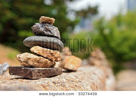 Small Stone Cairn