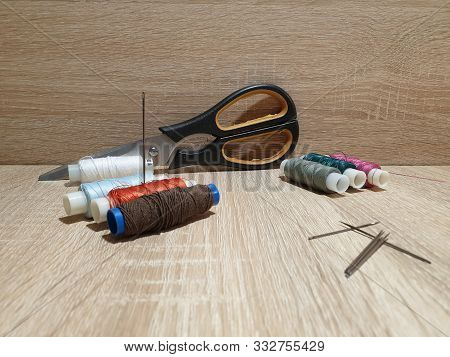 Needles And Threads. Sewing Kit. Tailor. Embroidery.
