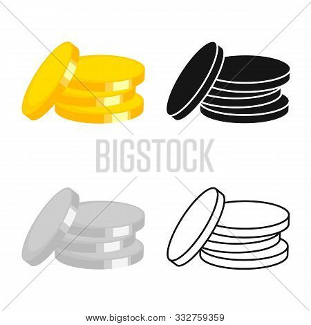 Vector Design Of Coin And Coins Logo. Graphic Of Coin And Judaism Vector Icon For Stock.