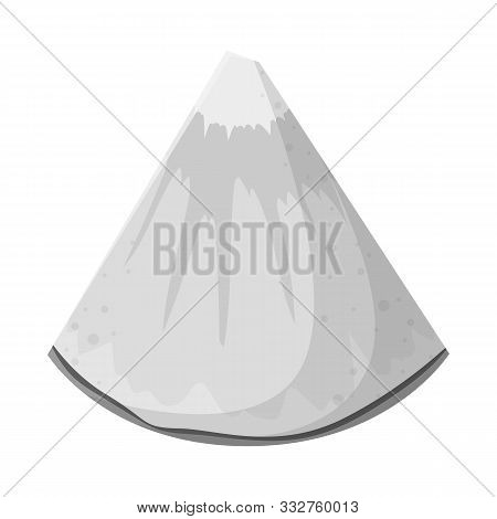 Vector Design Of Ananas And Slice Icon. Web Element Of Ananas And Vitamin Stock Vector Illustration.