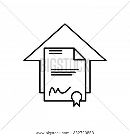 Black Line Icon For  Legal Aspects Juristic Juridical Property