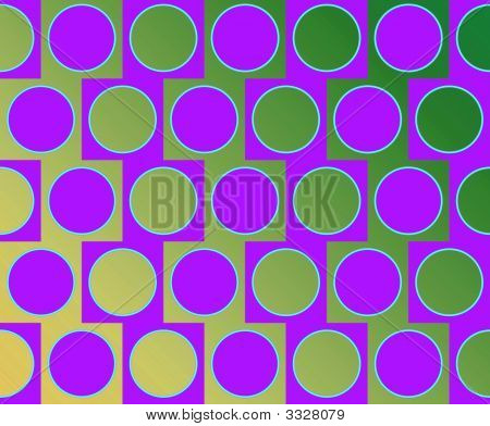 Op Art Big Circles Alternate Pattern Violet And Green