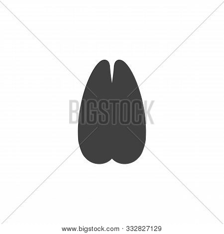 Goat Paw Print Vector Icon. Filled Flat Sign For Mobile Concept And Web Design. Goat Animal Hoof Pri