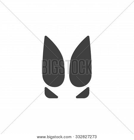 Cow Paw Print Vector Icon. Filled Flat Sign For Mobile Concept And Web Design. Cow Animal Hoof Print