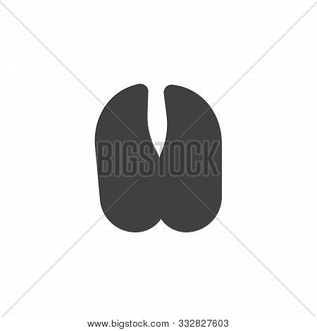 Cow Paw Print Vector Icon. Filled Flat Sign For Mobile Concept And Web Design. Cow Hoof Print Glyph
