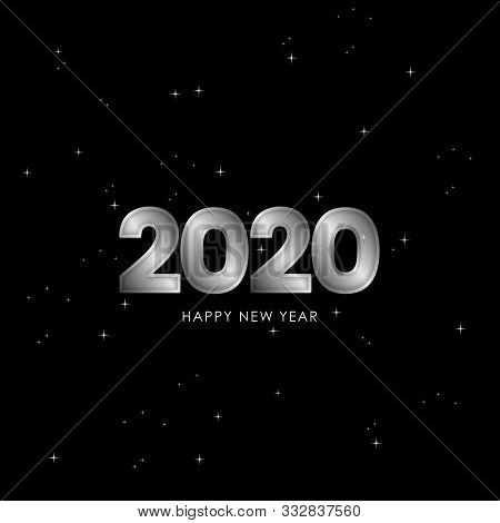New Year 2020, Happy New Year 2020, Silver 2020, New Year 2020 3d Rendering, Number 2020, New Year 2
