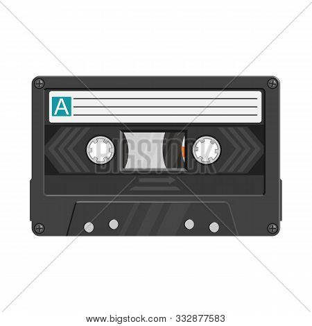 Isolated Object Of Cassette And Tape Sign. Graphic Of Cassette And Reel Stock Symbol For Web.