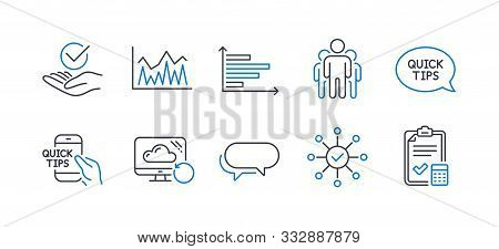 Set Of Education Icons, Such As Investment, Quickstart Guide, Group, Horizontal Chart, Recovery Clou