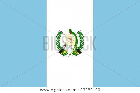 Sovereign state flag of country of Guatemala in official colors.