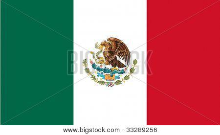 Suverän stat flagga land av Mexico i officiella färger.