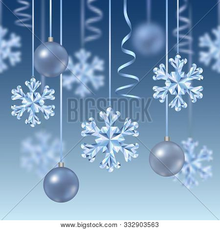 Christmas And New Year Vector Seamless Border