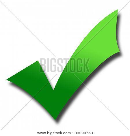 Tonad grön bock med skugga; isolayed på vit bakgrund.