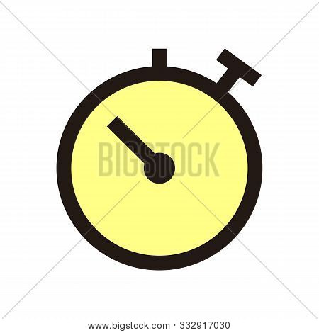Stopwatch Icon Isolated On White Background From Calendar Date Collection. Stopwatch Icon Trendy And