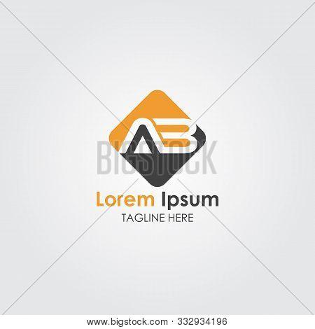 Ab Letter Type Logo Design. Ab Logo Vector Template. Creative Ab Logo. Letter Ab Logo. Ab Font. Ab L