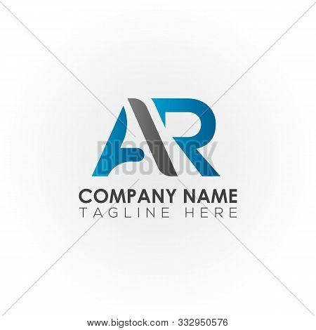 Initial Ar Letter Logo Vector Design. Ar Circle Letter Logo Design. Ar Circle Logo. Template. Typogr
