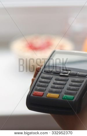 Payment Terminal By Credit Card, Breakfast Payment.