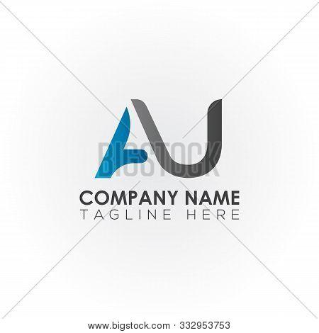 Au Letter Logo Vector Design. Au Logo Design. Au Letter. Au. Au Logo. Illustration. Identity. Shape.