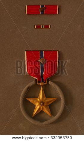 The Bronze Star Medal With Oak Leaf Cluster