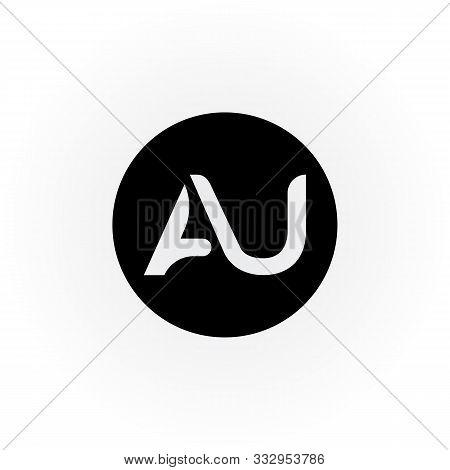 Au Circle Letter Logo Vector Design. Au Circle Logo. Au Logo Design. Au Letter. Au. Au Logo. Illustr