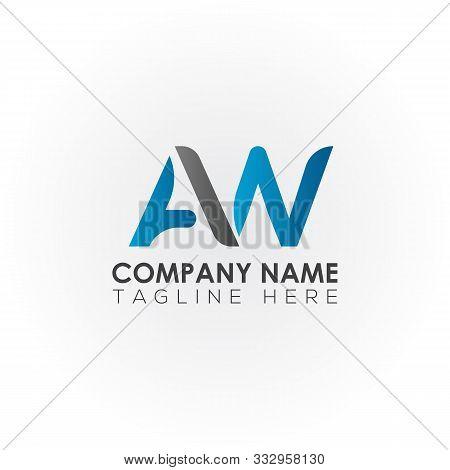 Aw Letter Logo Vector Design. Aw Logo Design. Aw Square Logo. Rectangle. Aw Square. Template. Busine
