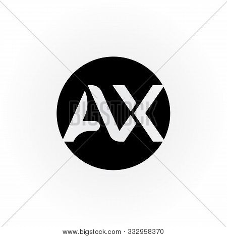 Ax Letter Logo Vector Design. Ax Circle Logo Design. Ax. Ax Logo. Font. Template. Symbol. Typography