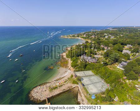 Annisquam Village Coastline Aerial View Near Wingaersheek Beach In City Of Gloucester, Cape Ann, Mas
