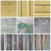 Collection of old wooden planks texture. Vintage background for design poster