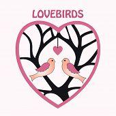 Lovebirds celebration of love poster