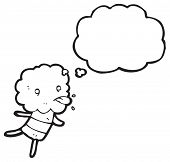 cartoon little cloud head creature sticking out tongue poster