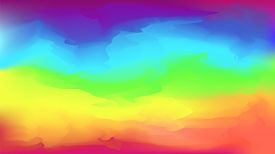 Bright Vector Watercolor Rainbow Colors Blurred Background. Beautiful Colorful Abstract Smooth Natur