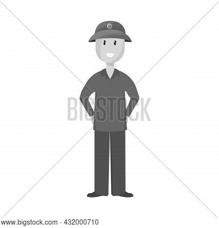 Isolated Object Of Vietnamese And Soldier Symbol. Collection Of Vietnamese And Man Stock Symbol For