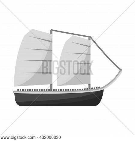 Vector Design Of Ship And Vietnamese Sign. Collection Of Ship And Boat Stock Symbol For Web.