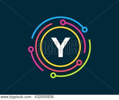 Technology Logo Design With Y Letter Concept. Letter Y Technology Logo. Network Logo Design