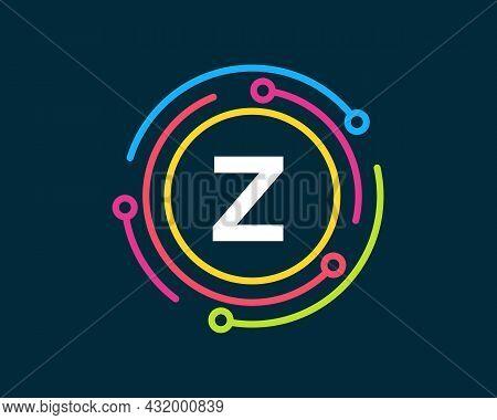 Technology Logo Design With Z Letter Concept. Letter Z Technology Logo. Network Logo Design