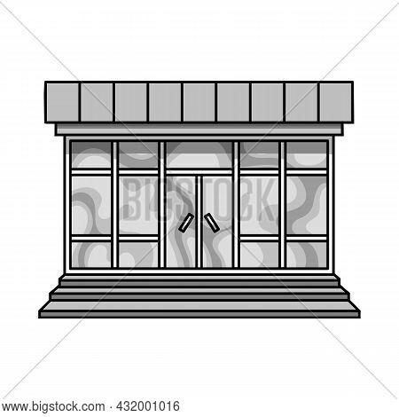 Vector Illustration Of Store And Market Sign. Set Of Store And Mini Vector Icon For Stock.