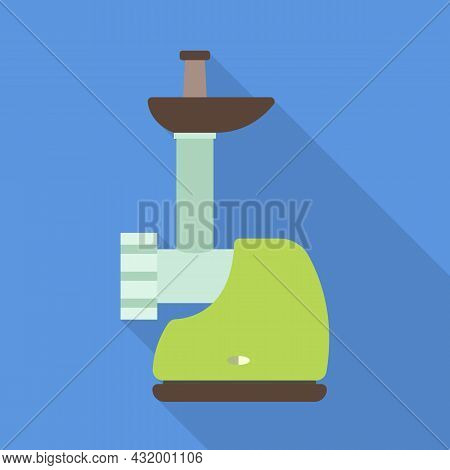 Vector Illustration Of Mill And Meat Symbol. Graphic Of Mill And Electric Vector Icon For Stock.