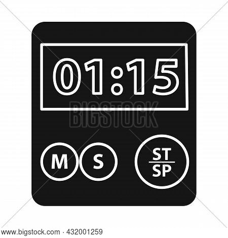 Vector Design Of Stopwatch And Clock Logo. Web Element Of Stopwatch And Timer Stock Vector Illustrat