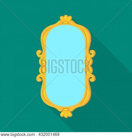 Vector Illustration Of Mirror And Chrome Sign. Graphic Of Mirror And Rectangle Stock Vector Illustra