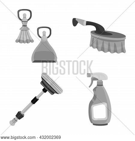 Vector Illustration Of Detergent And Service Symbol. Collection Of Detergent And Cleaning Vector Ico