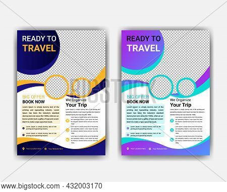 Travel Flyer Vacation And Holidays Background Template