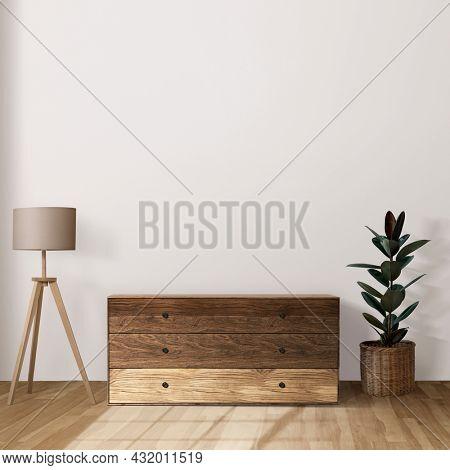Japandi living room interior design