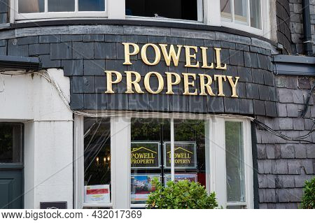 Cork, Ireland- July 14, 2021: The Sign For Powell Property In Cork City