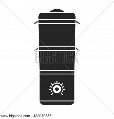 Double Boiler Vector Icon.black Vector Icon Isolated On White Background Double Boiler.