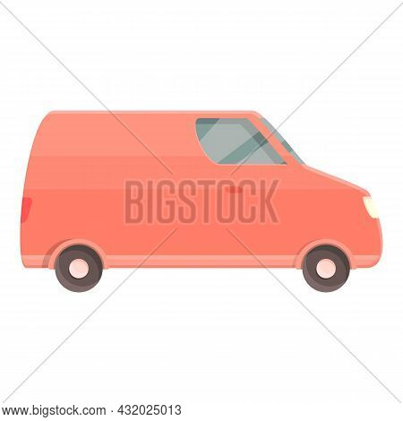 Delivery Van Icon Cartoon Vector. Lorry Transport. Shipping Truck