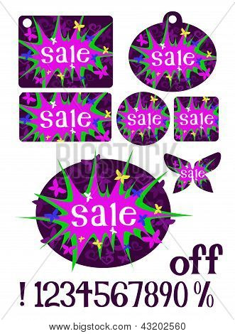 Pink & Purple Sale Tags