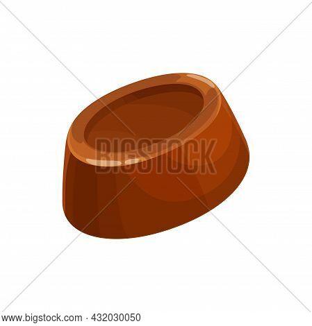 Chocolate Candy, Swiss Sweets, Belgian Truffle Bar, Vector Isolated Icon. Chocolate Candy Sweet Dess