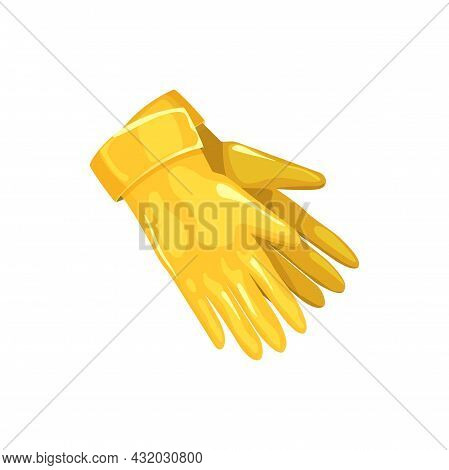 Gloves Icon, Pest Control Disinfection And Extermination Protection Garment, Vector. Protective Glov
