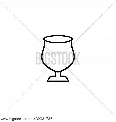 Design Wine Glass Illustration Icon. Wine Glass Vector Logo Design. Glass Icon.